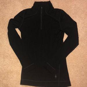 Smartwool black half zip